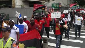 Biafra Flag The Indigenous People Of Biafra March In Taipei Taiwan News