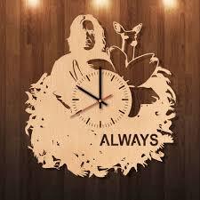 beautiful clocks always harry potter handmade natural wood wall clock beautiful