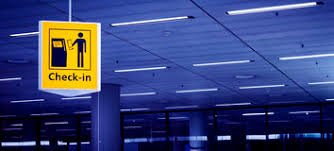 check in desk sign check in sign stock photo image of flight terminal 44581826