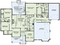 Craftsman Style House Floor Plans by Craftsman Style House Plan 4 Beds 35 Baths 2470 Sq Ft Plan 17