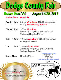 rides and midway information dodge county fairgrounds