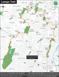 Nj Train Map Lenape Trail New York New Jersey Trail Conference