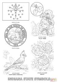 indiana state symbols coloring page free printable coloring pages