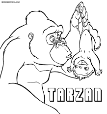 tarzan coloring pages coloring pages to download and print