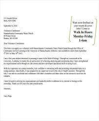 9 job application letter for volunteer free sample example