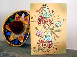 sugar skull happy birthday card day of the dead mexican