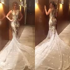 white and gold mermaid wedding dresses junoir bridesmaid dresses
