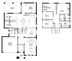 floor plan new home builders bellview split storey designs level