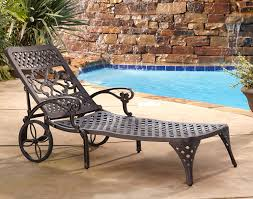 Wrought Iron Lounge Chair Patio Home Styles Biscayne Chaise Lounge Chair Bronze