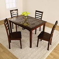 kmart dining room sets 5pc faux marble dining set style at kmart