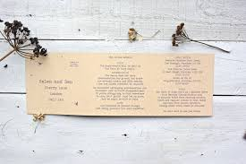 tri fold wedding invitations recycled wildflower tri folded wedding invitation by paper and inc