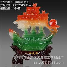 boat manufacturers wholesale imitation jade crafts resin