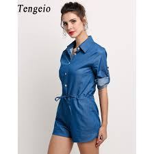 Jeans Jumpsuit For Womens Compare Prices On Women Jeans Combishort Online Shopping Buy Low