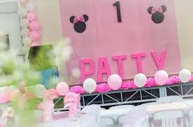 minnie mouse theme party patty turns 1 a diy minnie mouse themed party one charming day