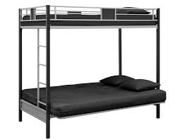 Amazoncom DHP Screen Over Futon Metal Bunk Bed SilverBlack - White futon bunk bed