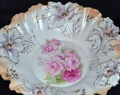 rs prussia bowl roses rs prussia porcelain bowl figural decor flora reclining