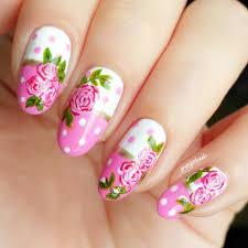 rose design on nails images nail art designs