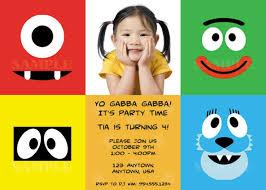 yo gabba gabba invitations templates free tubby