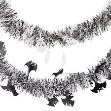Halloween Tinsel Garland by Amazon Com 36 Feet Of Tinsel Garland Decorations Halloween Party