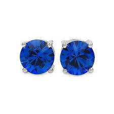 blue stud earrings swarovski stud earrings d m jewellery design new