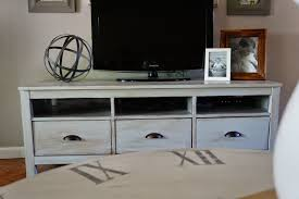 shabby chic ikea tv stand with mount and drawers decofurnish