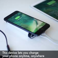 charge your phone yoo this device lets you charge your phone anytime anywhere