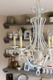 Painted Chandelier Character Building Chalk Painted Lights Our Storied Home