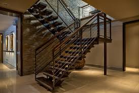 cable staircase staircase modern with white stairs white globe