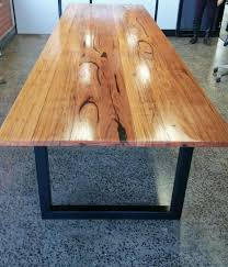 Timber Boardroom Table Messmate 4m Boardroom Table With Black Metal Legs Made