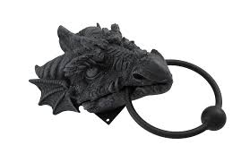Medieval Dragon Home Decor by Gothic Dragon Door Knocker Cast Iron Finish Amazon Com
