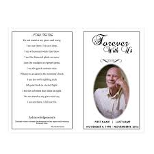 memorial program templates forever with us funeral phlets