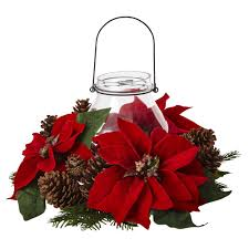 christmas 21 in red glittered poinsettia in foil pot learntoride co