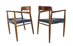 1950s Armchair Niels Moller Model 75 Armchairs Teak And Leather Danish 1950s At