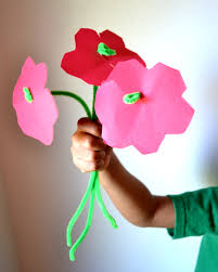 easy diy pipe cleaner flower craft for kids mommy snippets