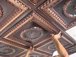 Ceiling Tile Installation Downtown Faux Tin Ceiling Tile 24 X24 221 Tile
