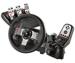 logitech g27 racing gaming steering wheel ps3 pc w pedals shift