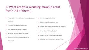 how much is a makeup artist 5 questions to ask before booking a wedding makeup artist