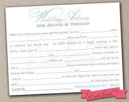 Marriage Advice Cards For Wedding 7 Best Images Of Mad Libs Wedding Advice Card Free Wedding Mad