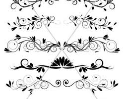 flourish divider lines ornamental borders graphics