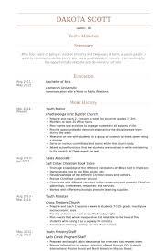 youth pastor resume samples visualcv resume samples database