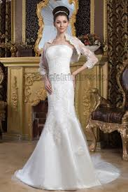 wrap wedding dress strapless embroidered wedding dress with a wrap