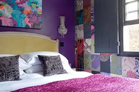 Purple Bedroom Feature Wall - small guest bedroom design and makeover u2013 sophie robinson