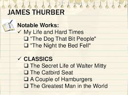 The Night The Bed Fell The Catbird Seat By James Thurber