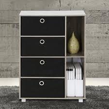 furinno french oak grey and black storage chest 11159gyw bk the