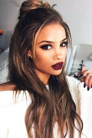 pics of blondes with dark hair underneath unique brown hair with caramel highlights underneath hairstyles
