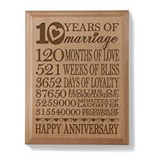 10 year anniversary gift husband kate posh our 10th anniversary engraved wood