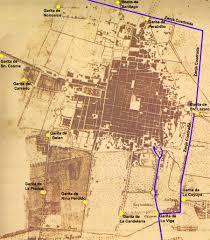 Old Mexico Map El Paseo Y La Garita De La Viga Historia Y Localización