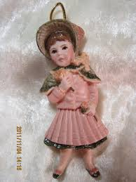doll ornaments porcelain dolls and lace