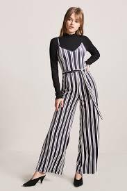 forever 21 jumpsuits striped velvet jumpsuit forever21