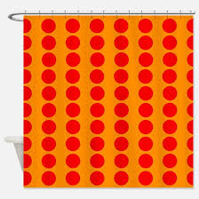 Red Polka Dot Curtains Bright Red Circle Shower Curtains Cafepress